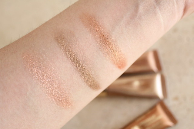 Clarins Ombre Waterproof in 01 Golden Peach, 03 Silver Taupe, and 04 Copper Brown