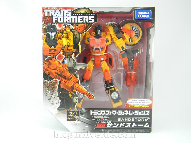 Transformers Sandstorm Voyager - Transformers Generations Takara - caja