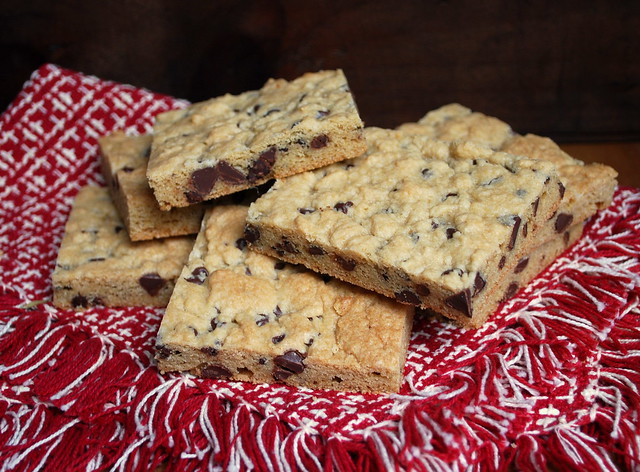 Soft batch chocolate chip bars