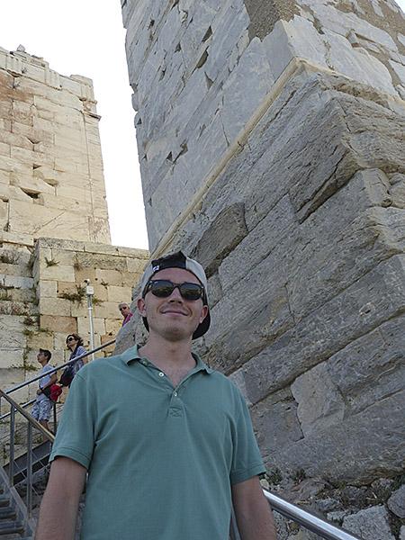descente de l'Acropole