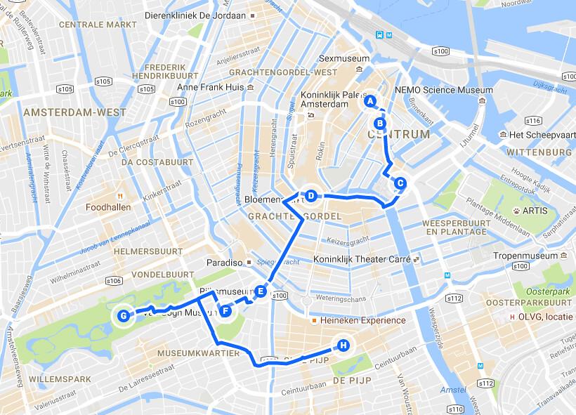 > Itinéraire d'un week-end à Amsterdam : Du quartier Rouge au Pijp en passant par les musées.