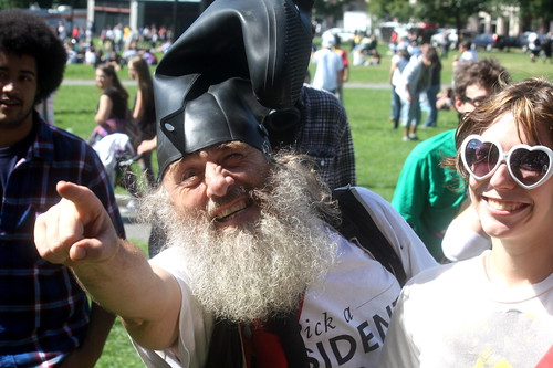 boston boston common hemp fest september 15 2012 man with boot on head vermin supreme | by photographynatalia