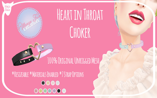 Kitty's Claws: Heart in Throat Choker EXCLUSIVELY AT MANGA FAIR!