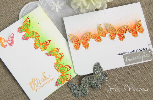 Calais Butterfly Die with  Two Cards