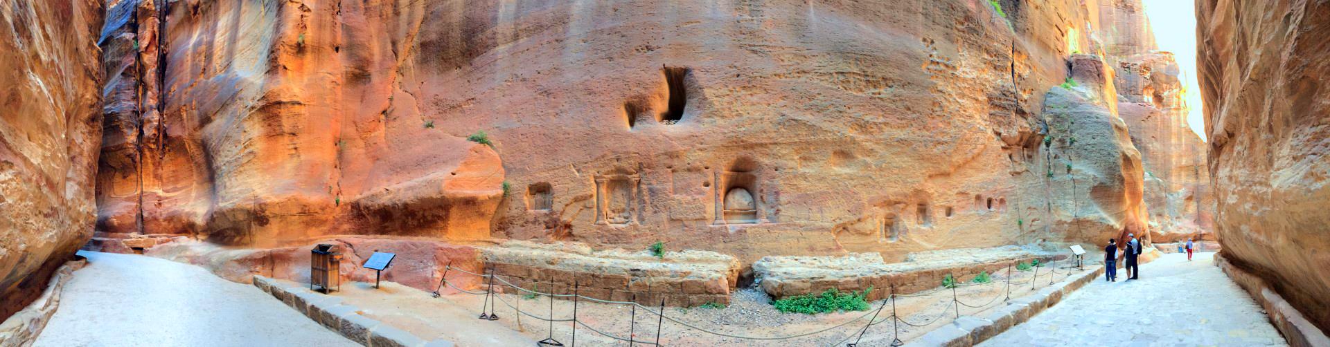 El Siq en Petra, Jordania petra, jordania - 28375074215 85e320c25f o - Petra, Jordania