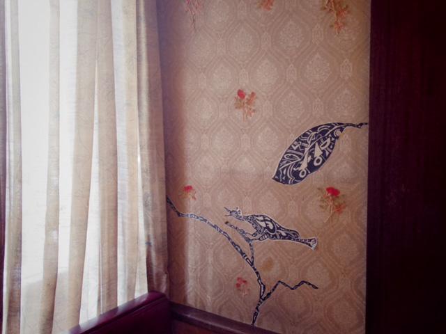 喫茶クラウンの壁 今村文さんと淺井裕介さんのコラボレーション