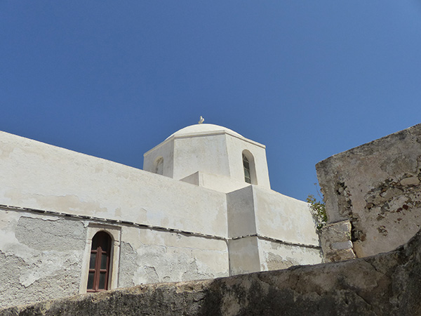 la coupole de la cathédrale catholique de Naxos