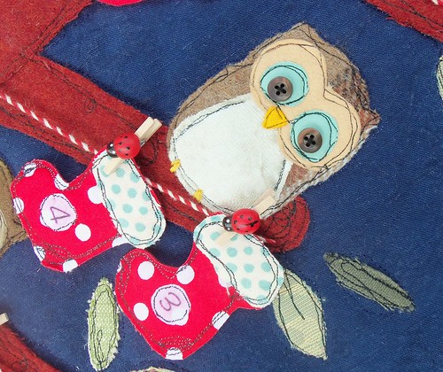 Baby Owls Advent Calendar (detail) | by Bustle & Sew
