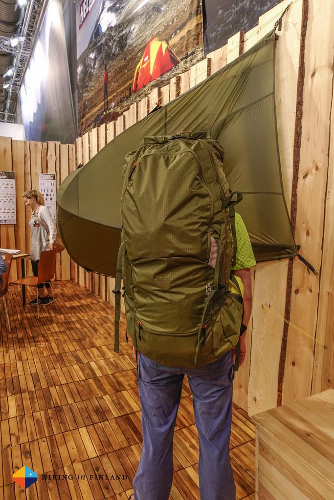 Helsport Alta backpack back view