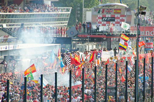 Italian Grand Prix Monza 2012 - Tifosi at the finish | by www.davidbaxendale.com