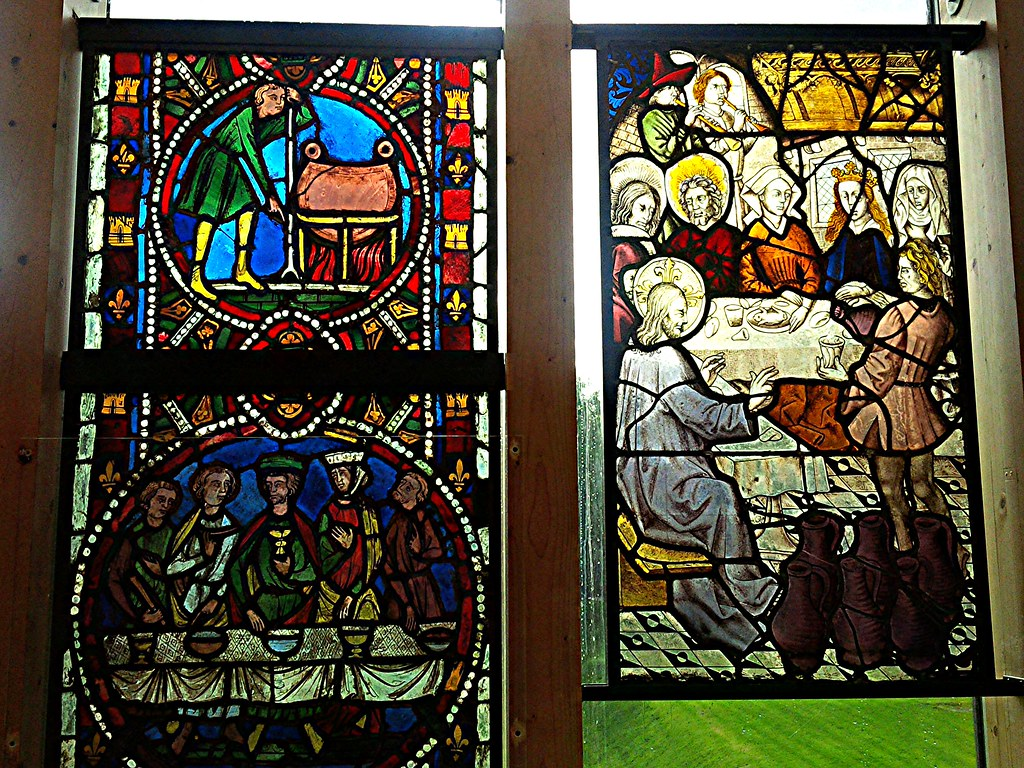 Medieval Stained Glass at Burrell Collection, Glasgow.