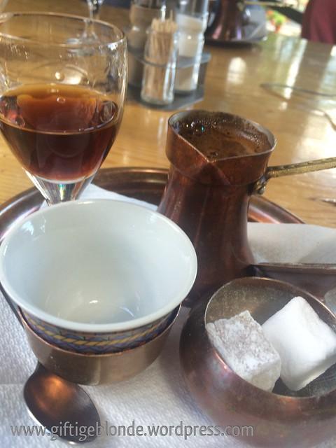 Pelinkovac und bosnischer Kaffee :-)