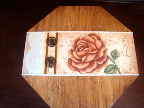 Caixa oitavada rendada t cnica pintura decorativa for Pintura decorativa efeito 3d