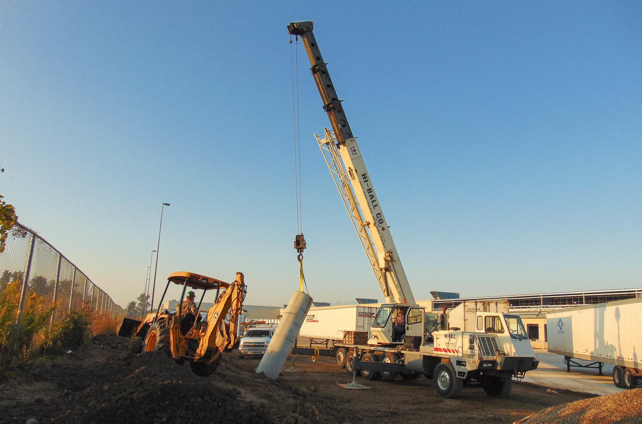 New Concrete Light Pole : Meijer precast light pole bases
