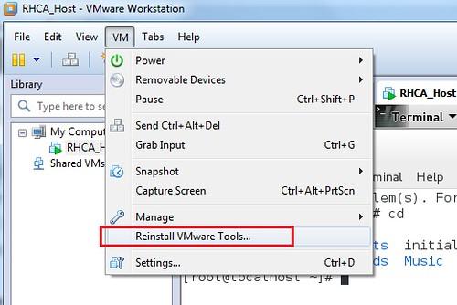 Install VMware tool