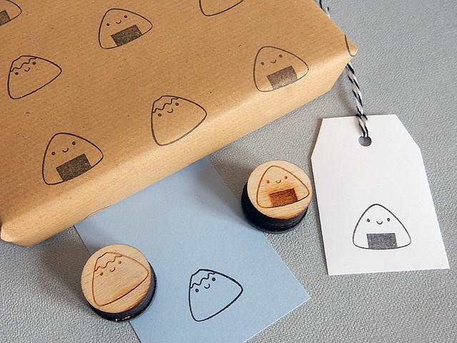 Fuji & Onigiri polymer stamps