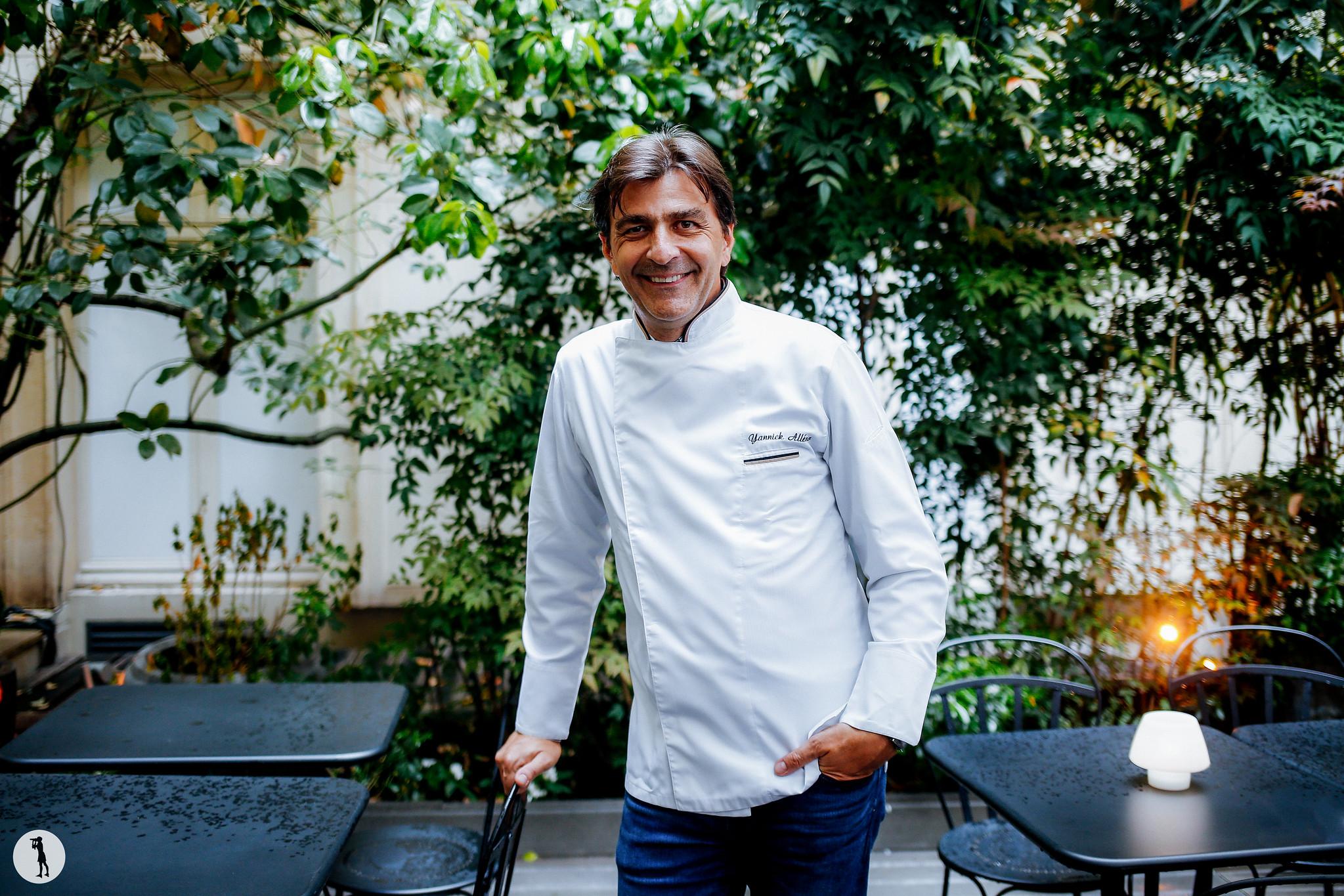 Degustation au Sofitel Paris Le Faubourg- Restaurant Le Stay. Chef Yannick Alleno photographié par Marie-Paola BERTRAND-HILLION