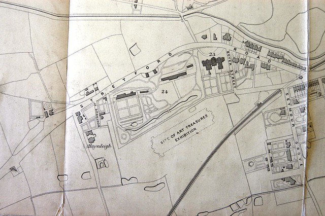 Site of Art Treasures Exhibition, Simms' Map of Manchester and Neighbourhood, 1858