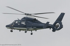 ZJ783 - 2007 build Eurocopter AS365N3 Dauphin II, inbound to the Police ASU on a grey/wet Manchester day