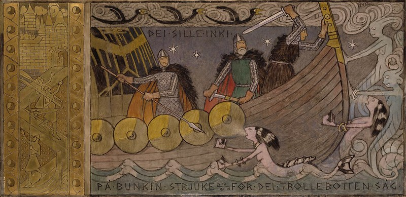 Gerhard Munthe - Asmund and Brothers at Sea, 1902:04