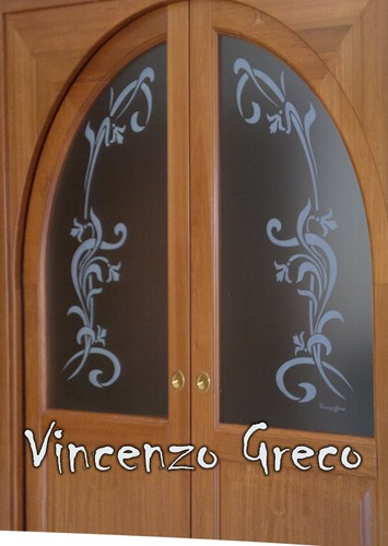Vetrate artistiche sabbiature per porte vincenzo greco flickr - Finestre per barche ...