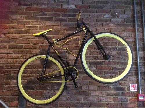 Bike on wall