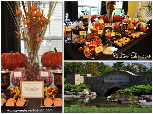 Fall Autumn Theme Candy Dessert Buffet For Realtor