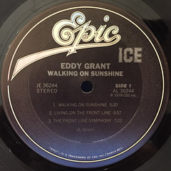 EDDY GRANT:WALKING ON SUNSHINE(LABEL SIDE-A)