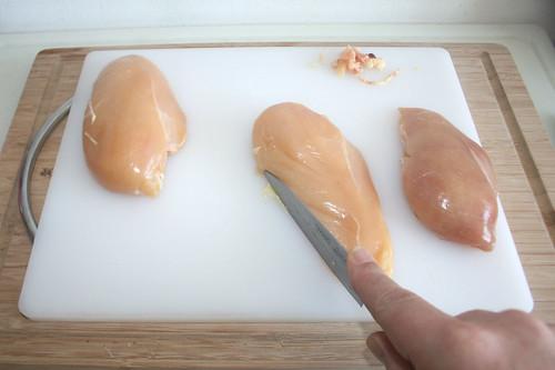 15 - Hähnchenbrust putzen / Clean chicken breasts