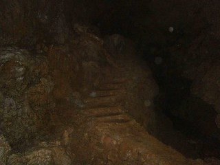Stairs in cave