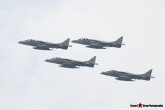 ZD435 47 & ZD438 50 & ZD436 48A & ZD468 58 - Royal Air Force - British Aerospace Harrier GR7 GR7A GR9 - RAF 90th Flypast - Fairford RIAT 2007 - Steven Gray - IMG_6612