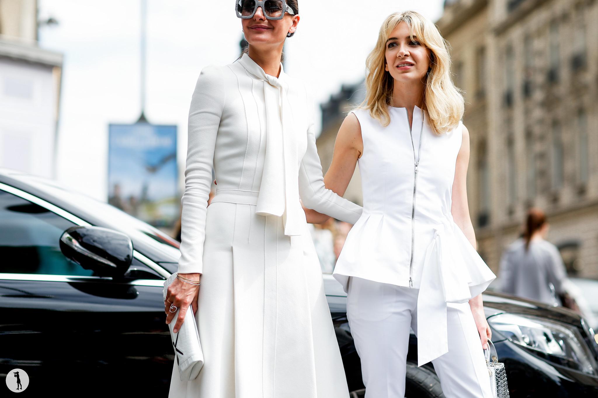 Giovanna Battaglia and Sabine Ghanem - Paris Fashion Week Haute Couture FW16-17 (1)