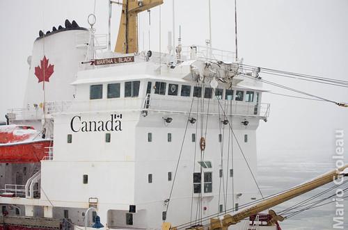 Le Martha L. Black, Trois-Rivières sous la neige