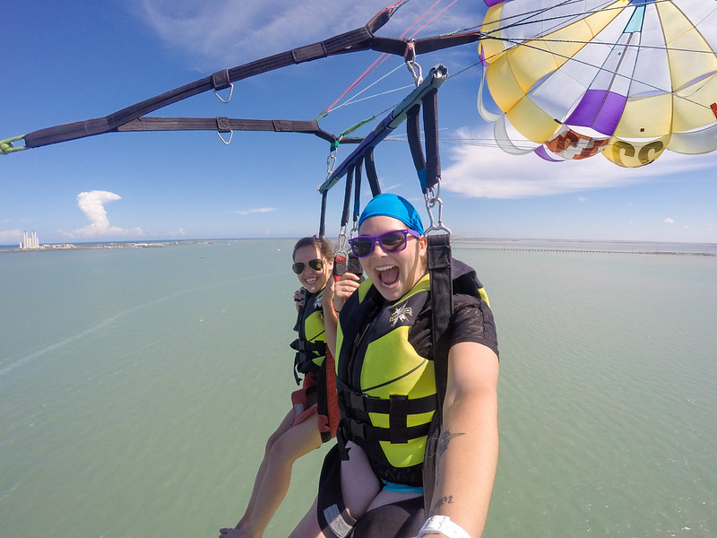 Parasailing over South Padre Island