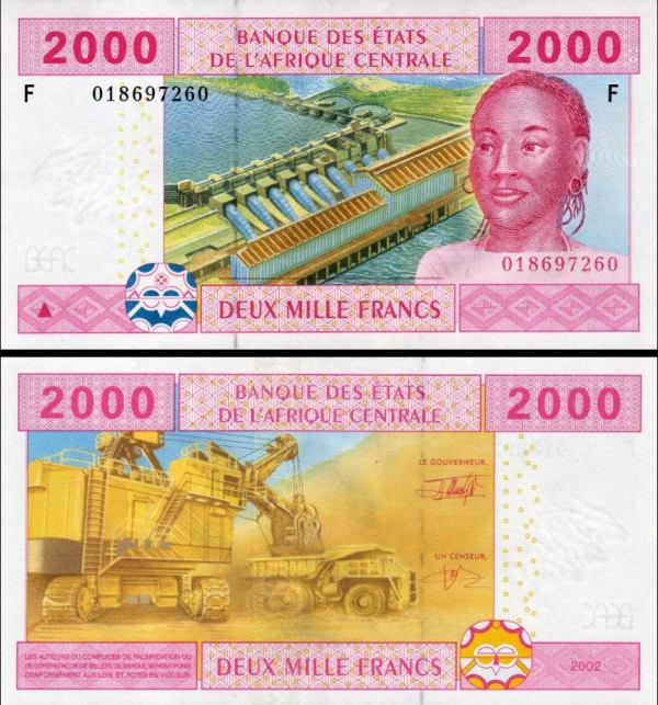 **2000 Frankov Rovníková Guinea (CAS), P508F 2002 UNC