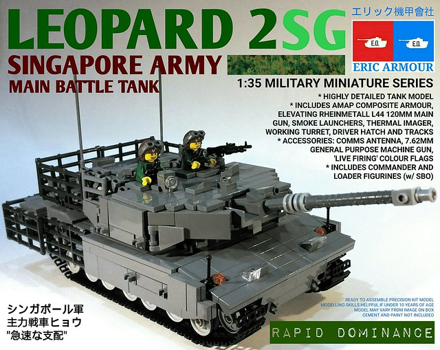 "Leopard 2 SG MBT Singapore Army ""Rapid Dominance"""