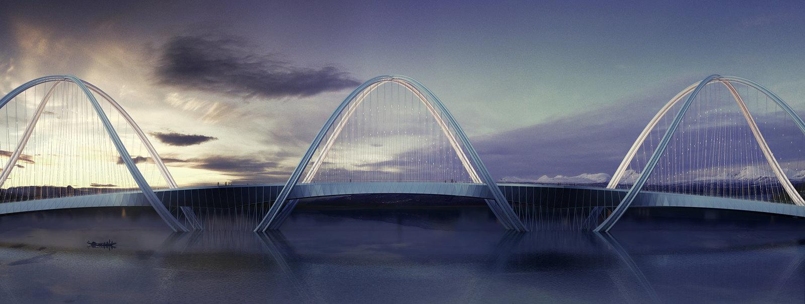Олимпийский мост в Пекине. Проект Penda