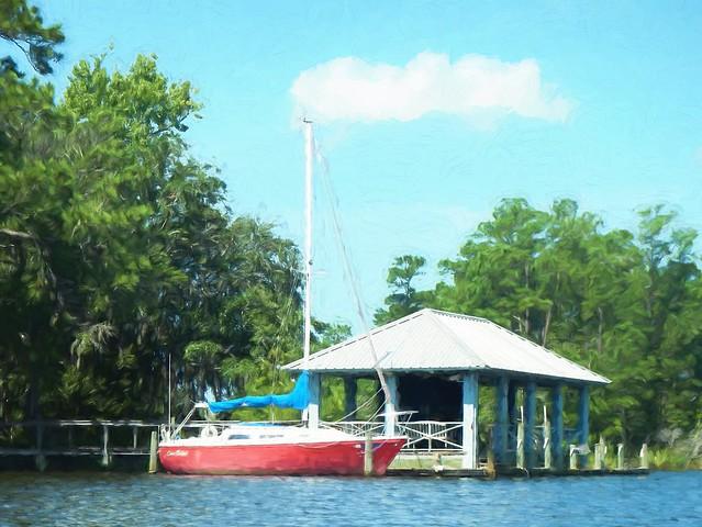red sailboat topaz impressions