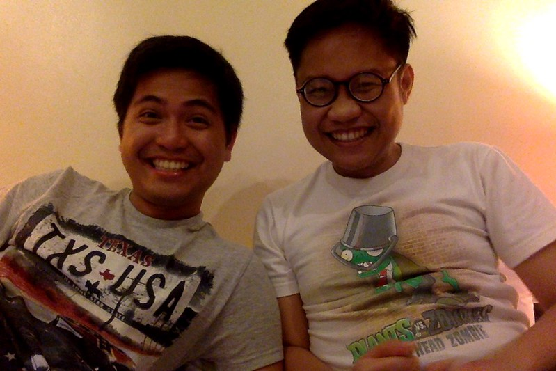 With old roommate Jason!