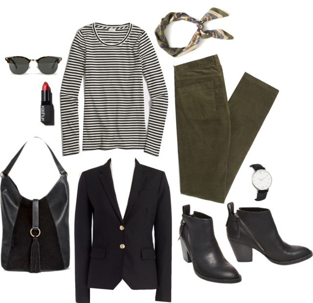 What I Wish I Wore, Vol. 154 - Olive Stripes A Lot | Style On Target blog
