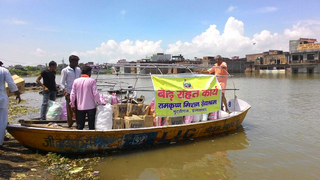 Flood Relief, Allahabad, Uttar Pradesh