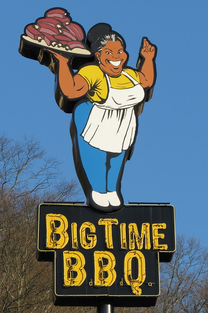 Big Time BBQ sign - Chattanooga