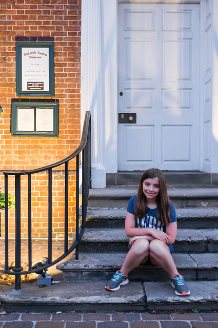Posing in front of Gadsby's Tavern once again.