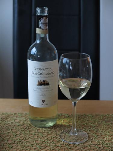 Vernaccia di San Gimignano (Weißwein vom Weingut der Famile Cecchi)