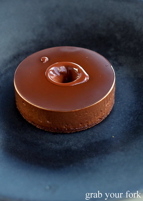 Eight-texture chocolate cake from across the water at Bennelong Restaurant Sydney