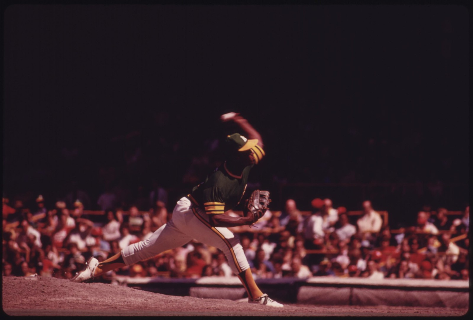 An Oakland A's Pitcher Delivers During A Game With The Home Team Chicago Cubs At Wrigley Field, 07/1973 | by The U.S. National Archives