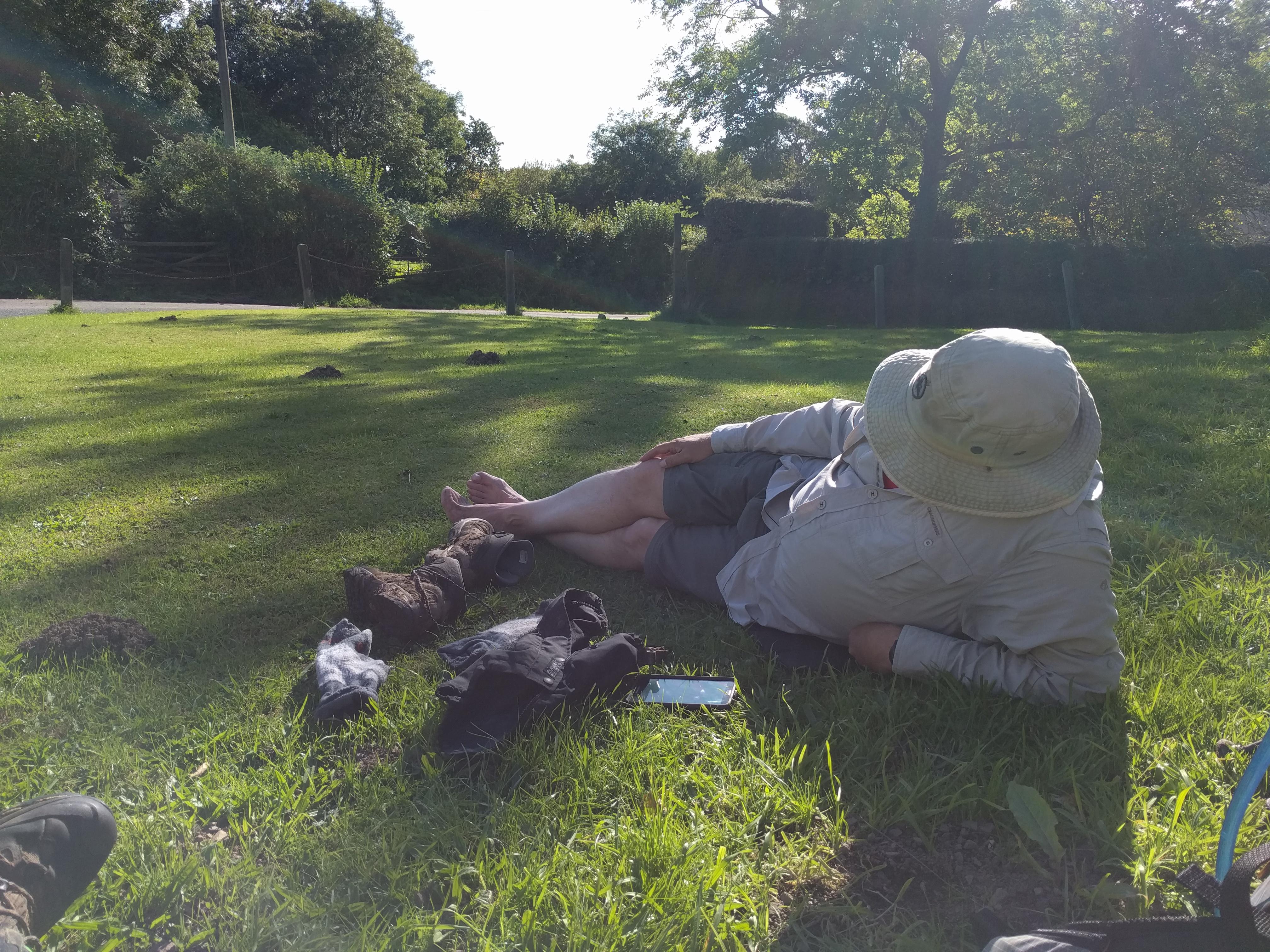 Resting at Washford Pyne #sh #twomoorsway