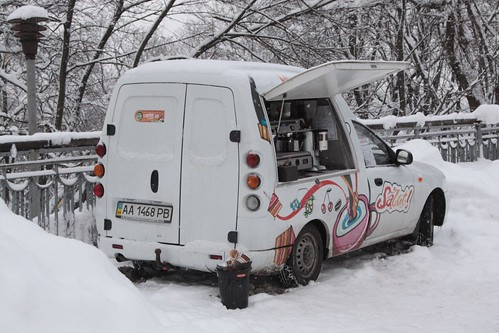 Another mobile coffee truck in Kiev