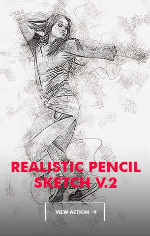 Pencil Sketch V.1 - Photoshop Action