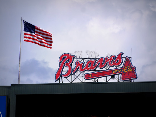 Flag over Turner Field